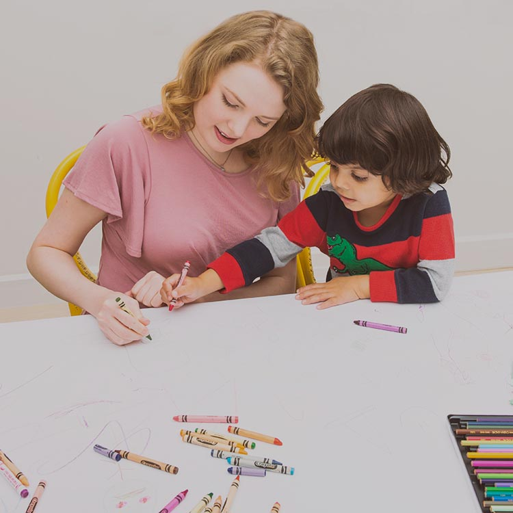 Au Pair and Child Coloring